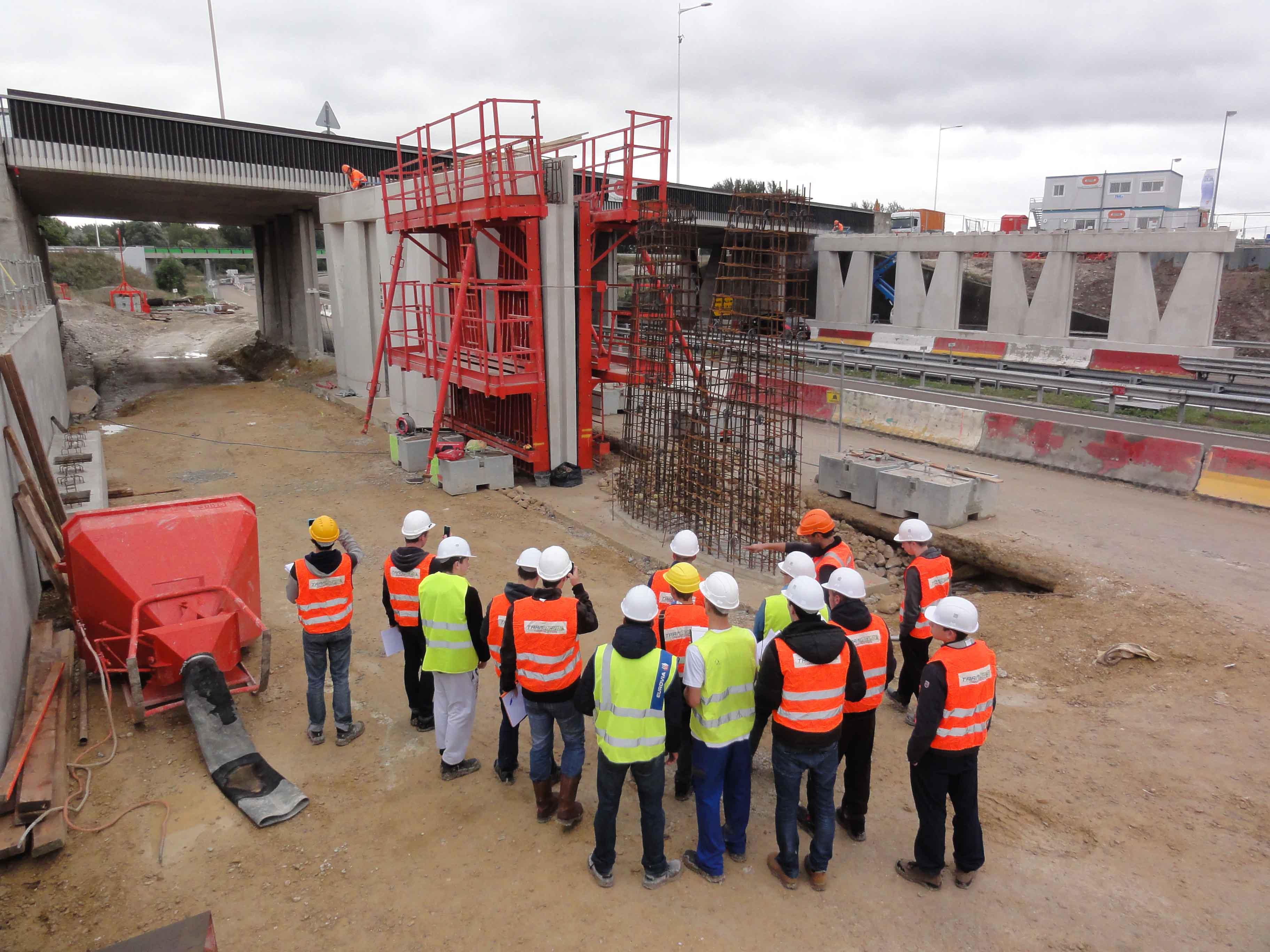 Visite de chantier lyc e arago for Visite de chantier
