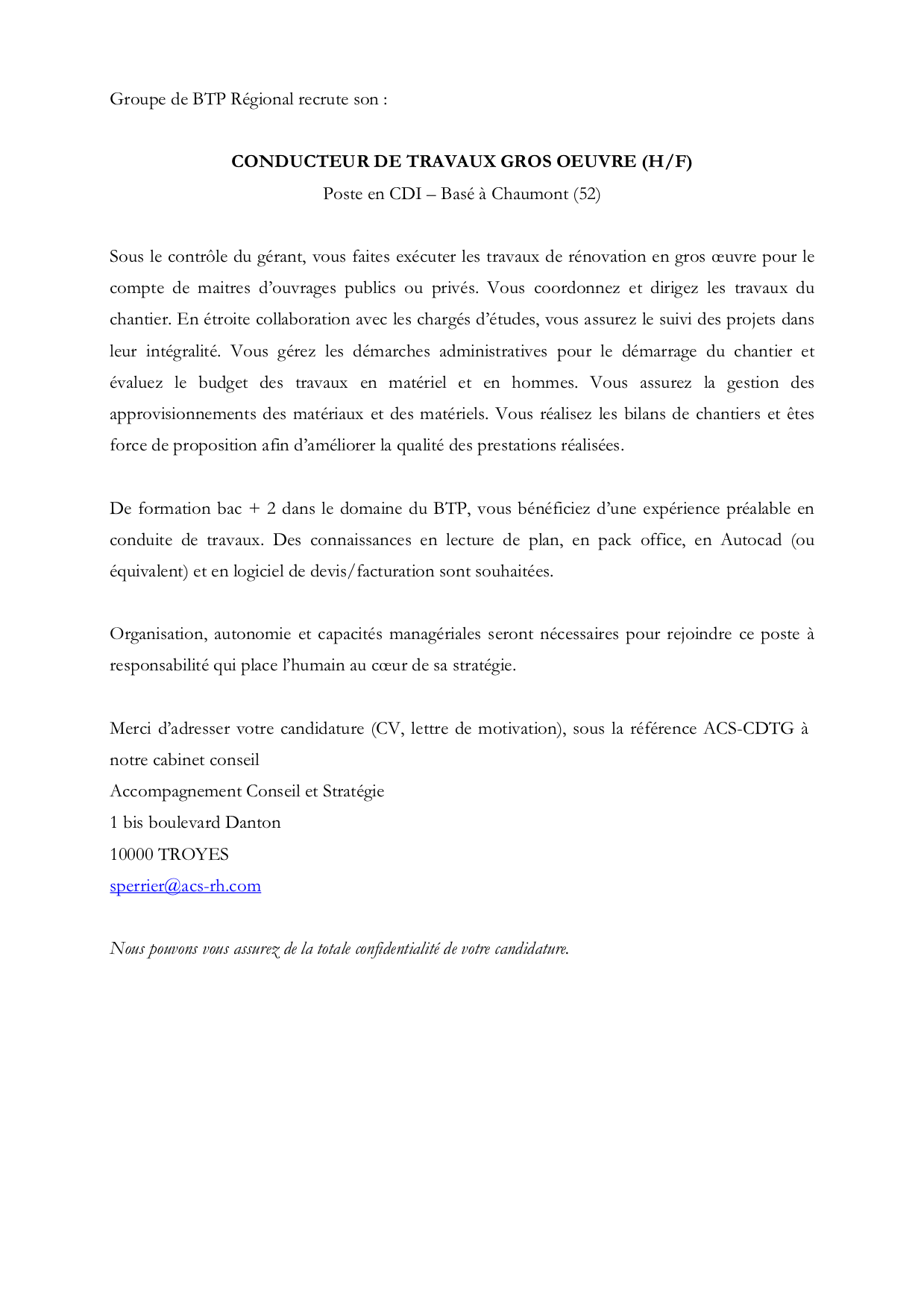 lettre de motivation conducteur dengins tp